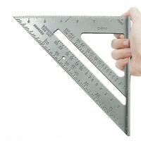 7'' Metric Alum Speed Square Triangle Angle Protractor Ruler Woodworking Tool