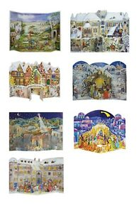 Richard Sellmer A3 free standing 3D fold out Advent Calendars with pictures