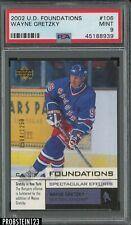 2002 Upper Deck Foundations Wayne Gretzky Rangers HOF PSA 9 MINT