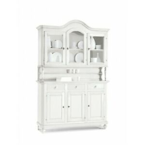 Glass Cabinet 3 Doors White Matt 150X43X228H