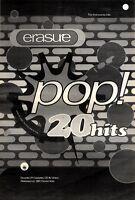 "21/11/92PGN25 ERASURE : POP 20 HITS ALBUM ADVERT 15X11"" FRAMED"