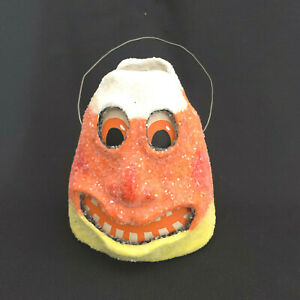 David Brown Halloween Candy Corn Pail Limited Edition Paper Mache