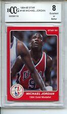 1984-85 Star #195 Michael Jordan BGS BCCG 8 Rookie RC Bulls Lower Pop #101