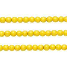 Wood Round Beads Dark Yellow 8mm 16 Inch Strand