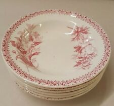 Villeroy Boch Wallerfangen Antique Children's Toy Dishes Bowls Pink Transferware