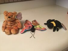 Set 3 1999 Muhammad Ali Salvino's Bammers Bear Bee Butterfly Plush Tags
