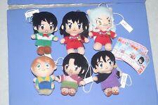 Inuyasha 6 mini plush doll Set Bandai JPN 2002' Kagome,Shippo,Miroku,Sango