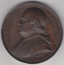 C1 VATICAN Medaille PAPALE Pie IX 1862 PETRI INOPIAM CHRISTIANI Ae Bronze VOIGT