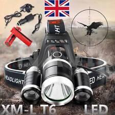15000LM 3x XML T6 LED Headlamp Head Torch Headlight Camping Flashlight Shop DD