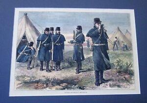Military. Sounding the Reveille. 1880