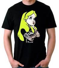 Camiseta Hombre Alice Tatoo-alicia en el pais de las maravillas rock t-shirt