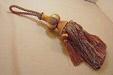 """Drapery Tassel-Gold Tones-Overall About 16""""-Ball 3""""-Tassel 7.5""""-Hanging Loop 5"""""""