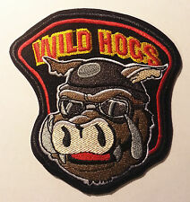 "4"" Wild Hogs Embroidered Iron On/Sew On Patch"