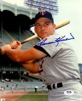 Harmon Killebrew autographed signed 8x10 photo MLB Minnesota Twins PSA COA
