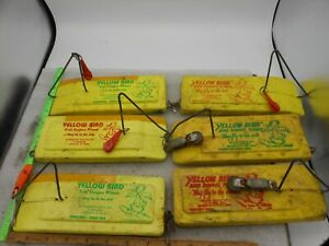 LOT OF 6 YELLOW BIRD PLANER BOARDS LEFT RIGHT