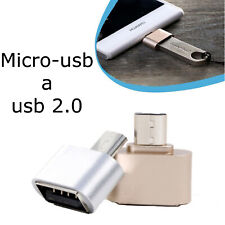 Adaptador OTG MICRO USB Macho a USB 2.0 Datos Cable Conversor