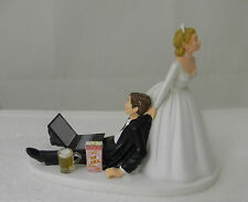 Wedding Cake Topper ~Beer Mug Computer Laptop Popcorn Video Game Gamer Gaming