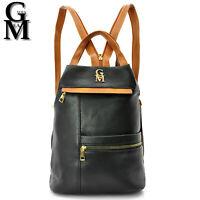 Gyoiamea 2in1 zainetto donna zaino borsa piccolo sacco similpelle nero vintage