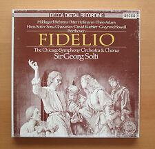 D178D 3 Beethoven Fidelio Sir Georg Solti Chicago Symphony 3xLP Decca NM/VG