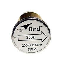 Bird 250D Plug-in Element 0 to 250 watts 200-500 MHz for Bird 43 Wattmeters
