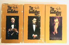 Vintage Godfather 1 2 3 Oscar Winner Film Lot Mob Mafia Gangster VHS