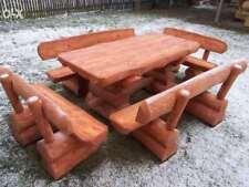 Ensemble de meubles de jardin en rondin massif fuste