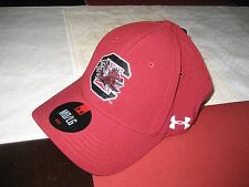 MENS UNDER ARMOUR SOUTH CAROLINA GAMECOCKS FITTED HAT BURGANDY M/L  MD/LG NWT