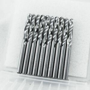 "10pcs Solid Carbide Drill Bit 1/8"" Tungsten 3.175mm 2-Flute Straight Shank YG6X"