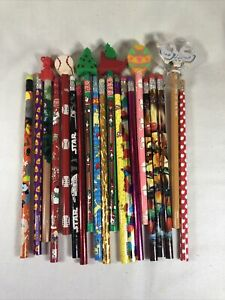 Lot of 20 Unsharpened Pencils Holiday, Decorative & Licensed Character