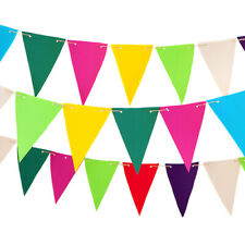Fabric Outdoor Garden Bunting in Choice of Colours Patio Decor Water Resistant