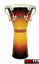 "RRP$470! LP Percussion LPA630VSB Aspire Sunburst Wooden 12.5"" Djembe Hand Drum"
