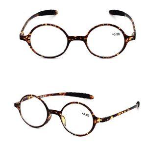 Fashion Design Retro Men Women Small Round Shape Reading glasses +1.0~4.0 D