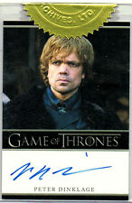 GAME OF THRONES SEASON 1; PETER DINKLAGE AS TYRION LANNISTER AUTOGRAPH CARD