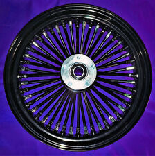 FAT SPOKE 18 FRONT WHEEL BLACK 07-14 HARLEY SOFTAIL HERITAGE FAT BOY DELUXE SLIM