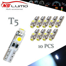 10xCar T5 3528 3SMD Wedge Xenon WHITE LED Light Bulbs 17 18 27 37 58 70 74 2721