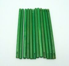 Tinkertoy 12 Green Rods Replacement Parts 7 1/8 inch Wooden Tinker Toy Sticks