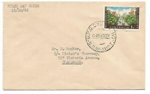 1956 Australia ⁛ Melbourne Olympic Games [1/- Collins St] ~ First Day Cover