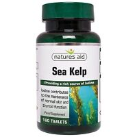 Natures Aid Kelp With Calcium Tablets 187mg Sourced from the Atlantic Ocean, 180