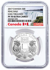 2017 Canada Feng Shui Good Luck Charms 2/3 oz Silver $8 NGC PF70 UC ER SKU48613