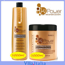 Kit per capelli ricostruttore - Shampoo 1000ml + Maschera 1000ml Ki Power