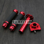 AU 22mm 7/8'' CNC Hand Grips Throttle Twist Tube Lever Motorcycle Bike Red