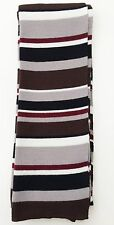 """H&M"", MEN'S SCARF, BROWN/GREY/BLACK/CREAM/RED, STRIPED - USED"