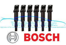 6 BOSCH IGNITION COILS COIL PACK SET BMW E90 E60 325I 330I 335I 525I 528I 530I