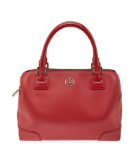 Tory Burch Robinson Middy Red Leather Satchel