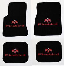 NEW! 1967-1969 Pontiac Firebird Floor Mats Black Carpet Embroidered Red Bird All