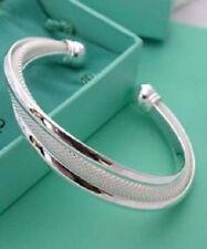 "womens web cuff bracelet 925 sterling silver  6"" -8"" stretch 12mm wide"