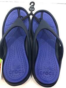 Crocs Athens Flip Flops / Sandals Size: Mens 9 /Women's 11 Black & Gray New