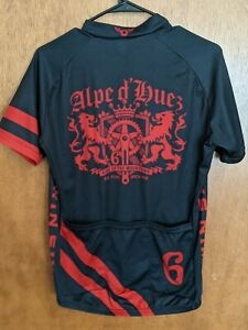 Twin Six Alpe D'Huez King Of The Mountains Cycling Jersey Men's Sz M USA Made