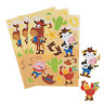 Pack of 12 - Western Animals Cowboy Sticker Sheets - Great Party Bag Fillers