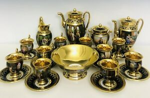 1820 French Empire Porcelain Coffee Service By Mark Schoelcher